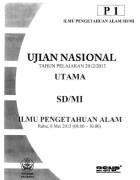 Naskah Soal Ujian Nasional SD IPA 2013