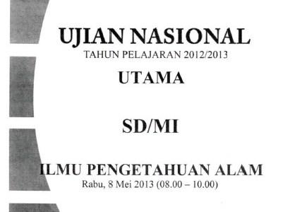 Naskah Soal Ujian Nasional SD MI / UASBN Tahun 2011-2014