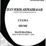 Naskah Soal Ujian Nasional SD Matematika 2014