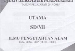Naskah Soal Ujian Sekolah/Madrasah (USM) 2014-2015