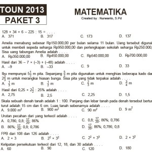 Soal Latihan Ujian Nasional SD MI Matematika