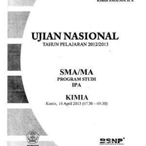 Naskah Soal UN Kimia SMA IPA 2013