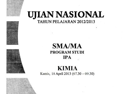Naskah Soal UN SMA IPA/IPS 2013 Paket 1 Lengkap