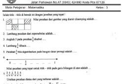 Soal UTS SD Kelas 3 Semester 2 (Genap)