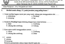 Soal UTS SD Kelas 5 Semester 2 (Genap)