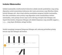 Induksi Matematika - Materi, Soal Latihan dan Penyelesaian