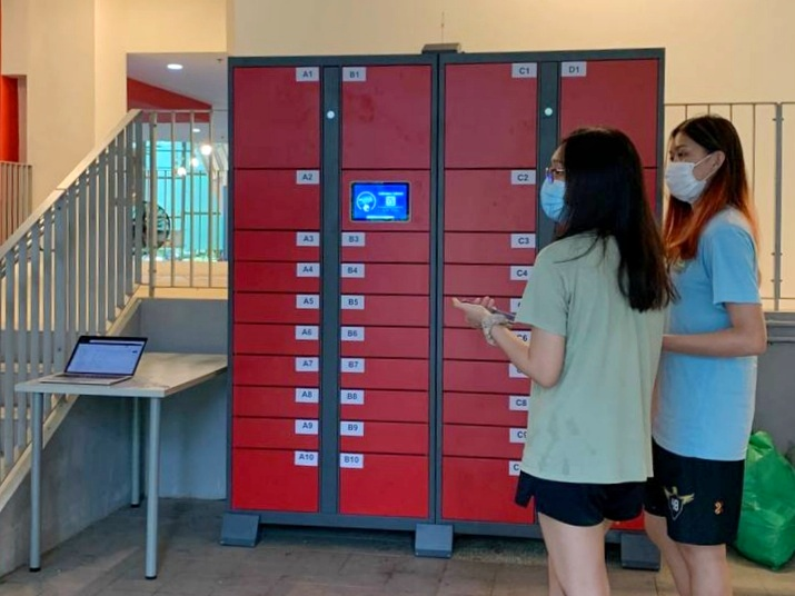 Cates: New lockers for food deliveries now available at Nanyang Crescent and North Hill halls