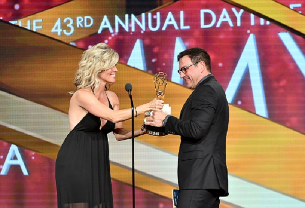 TC picking up Daytime Emmy Award for Outstanding Lead Actor