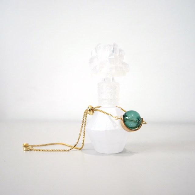 emerald essential oil bracelet