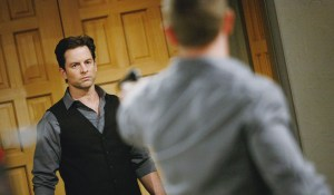 "Billy Miller, Michael Muhney ""The Young and the Restless"" Set  CBS television City Los Angeles 12/17/13 © sean smith/jpistudios.com 310-657-9661 Episode # 10336 U.S. Airdate 01/27/14"