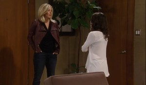 Carly tells Sam about her problems-ABC