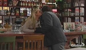 Sharon-kiss-Nick-cheek-YR-CBS