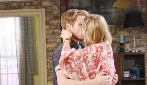 claire and tripp kissing