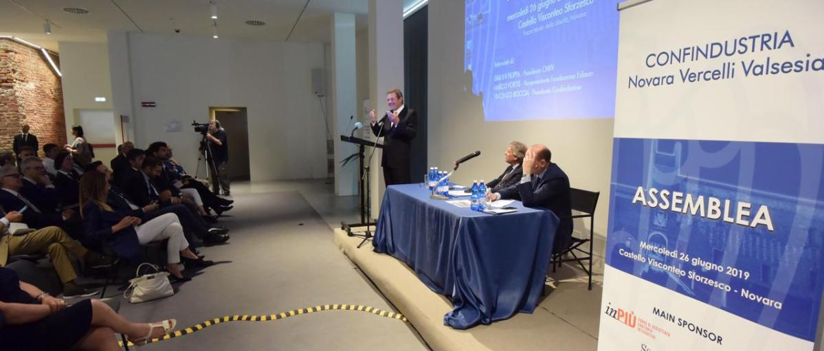 Prima assemblea generale di Confindustria Novara Vercelli Valsesia.
