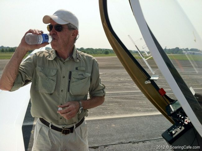 2012-05-25 - Concordia First Flight - Hydrating before the first flight