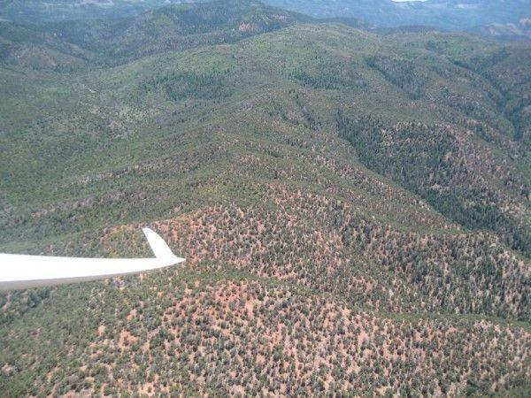 Garrett Willat over a ridge