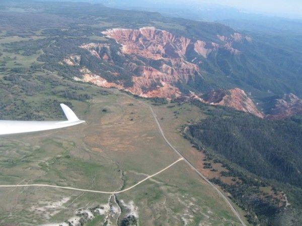 Garrett over Brian Head looking at Cedar Breaks National Monument