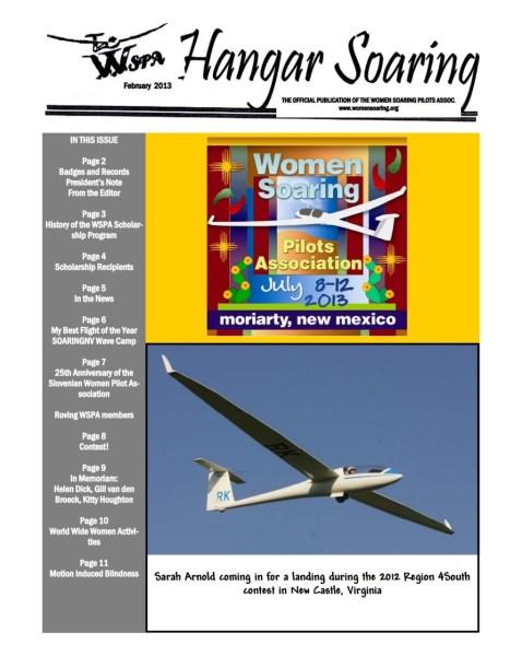 2013-02 Hangar Soaring Cover