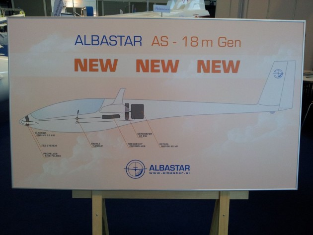Albastar from Slowenia offers their AS-18m (twoseater) with an engine inside the fuselage which drives a FES in the nose. It will be self-launchable!