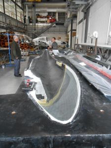 fuselage for flight -  halves in mold