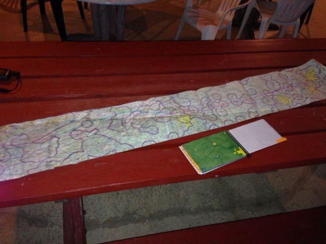 Dan's flight planning scroll