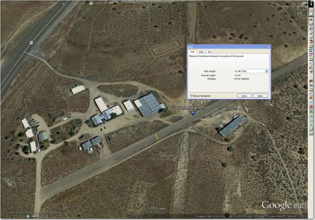 Very tight for 15m, probably too narrow for 18m.  Carson City Airport 3 miles WSW is a much better bet.