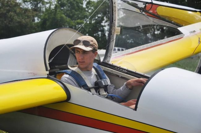 Phil Chidekel preparing for takeoff in his favorite glider—a 1-26 of course!