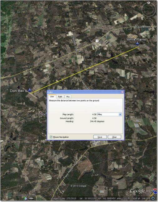 Don Bells, 4.5 mi SW of White Plains Airpark