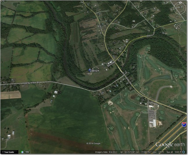 Deitch Airstrip:  Nothing there that I can see