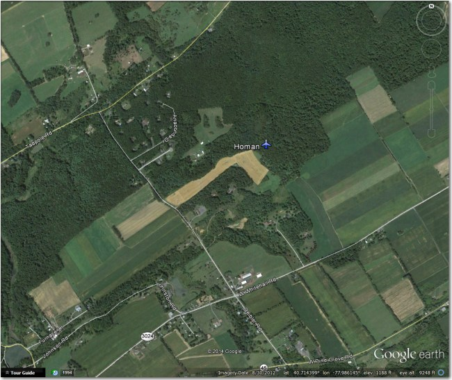 Homan Airstrip - Nothing there that I can see
