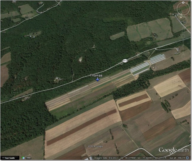 Thomas Airstrip:  Nothing there