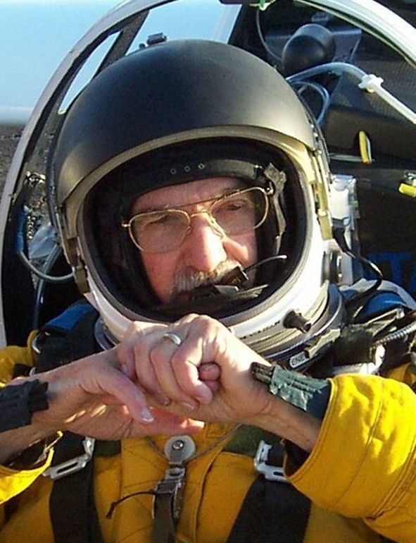 Einar Enevoldson Suited Up and Ready to Go for Perlon Project Flight cropped