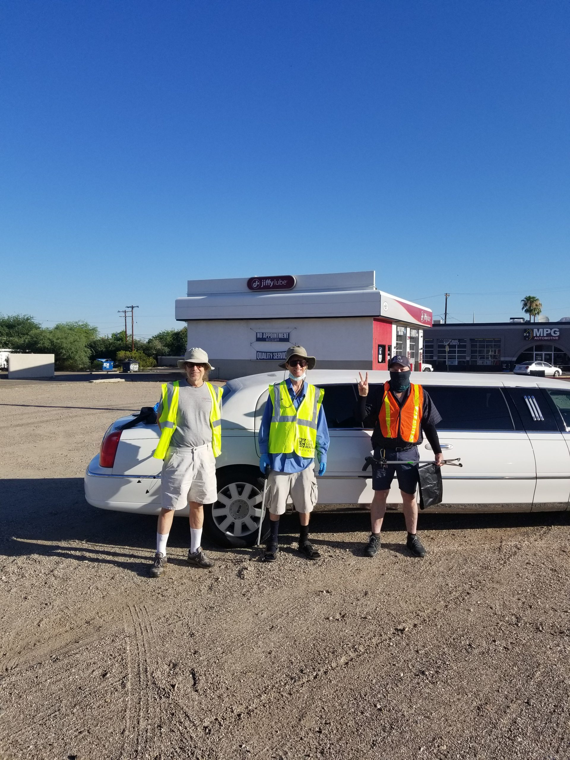 southern arizona norml highway cleaning of Campbell Avenue