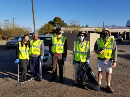 Southern Arizona NORML first highway cleaning of the new year