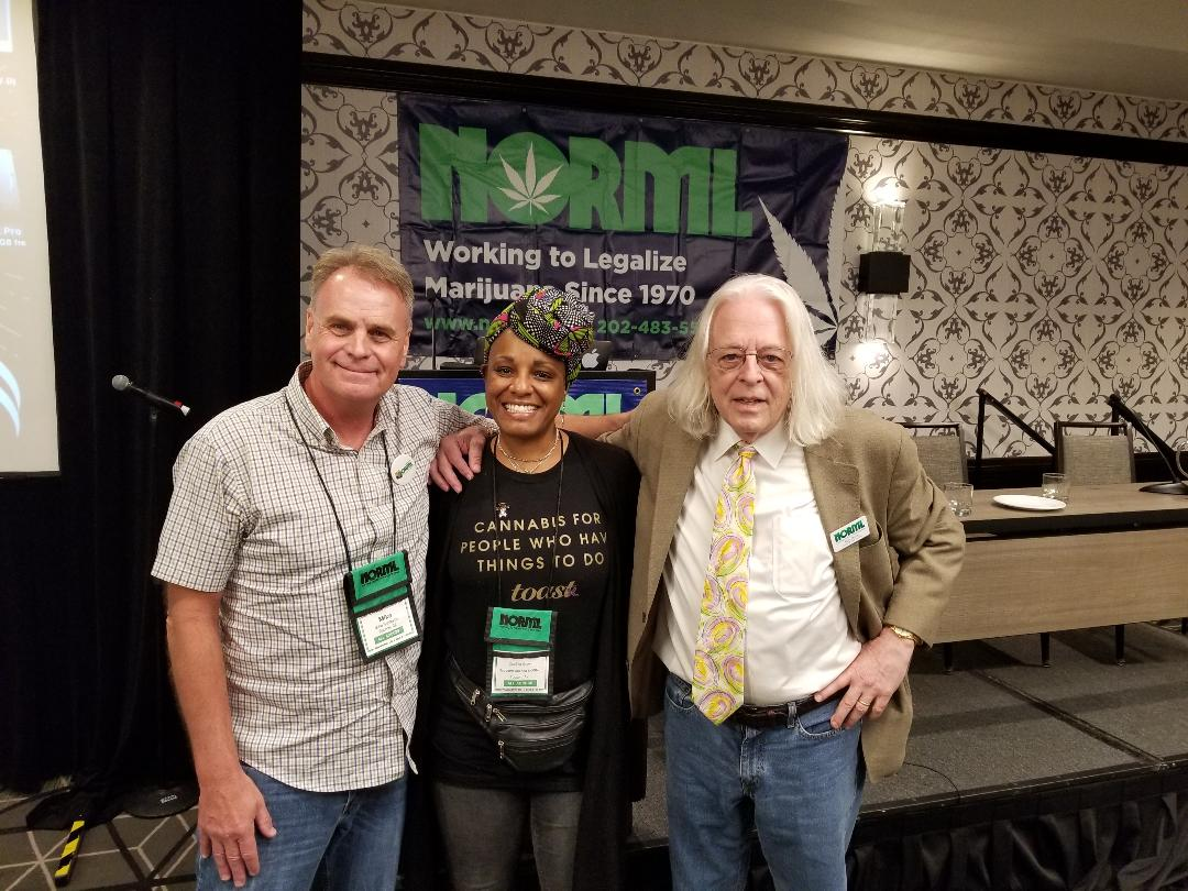 National NORML September 2019 Mike Robinette ZsaZsa Simone Brown and Keith Stroup