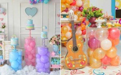 Balões 'aprisionados' são nova tendência para decorar festas infantis