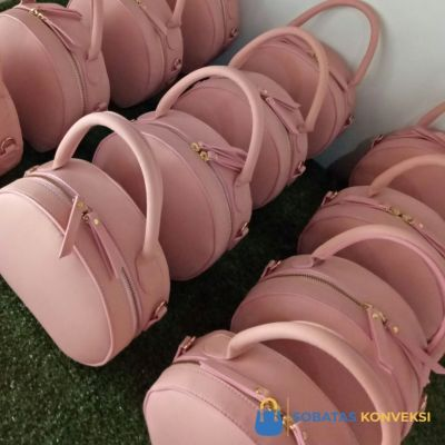 Round Bag Premium Leather