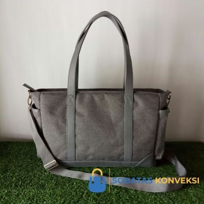 Sample Tote Kulit Kombinasi Nylon