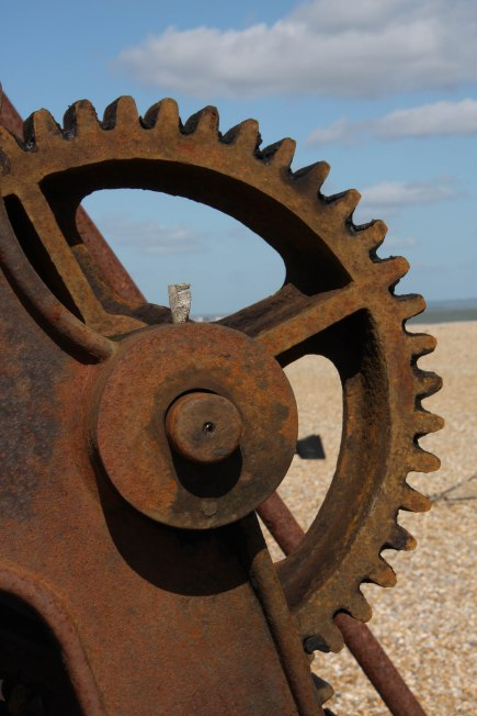 Rusted winch. Copyright Fiona Michie.
