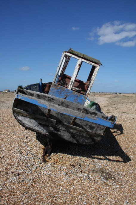 Decaying boat, Dungeness. Copyright Fiona Michie.