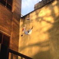 Day 17 Mary Poppins graffiti.