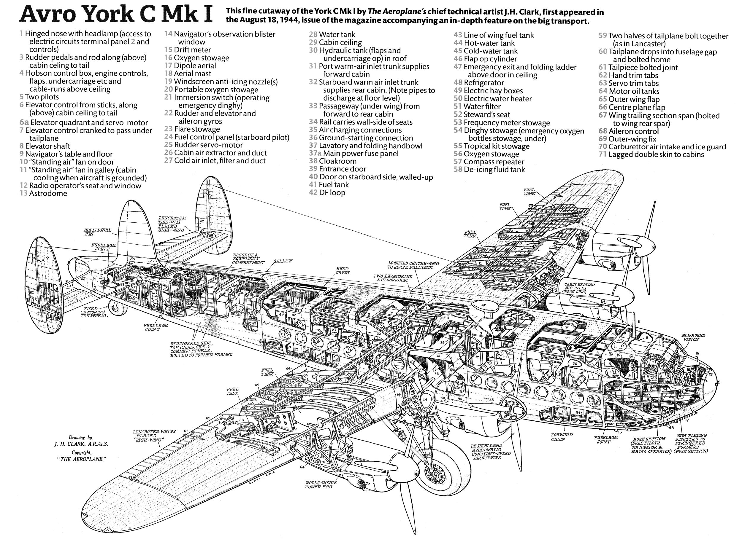 Cutaway Avro York C Mk I Sobchak Security