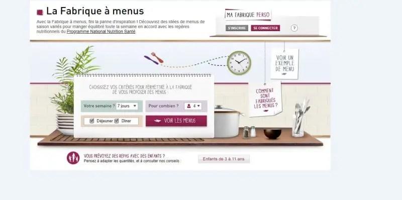 Manger équilibré grâce à La Fabrique à menus