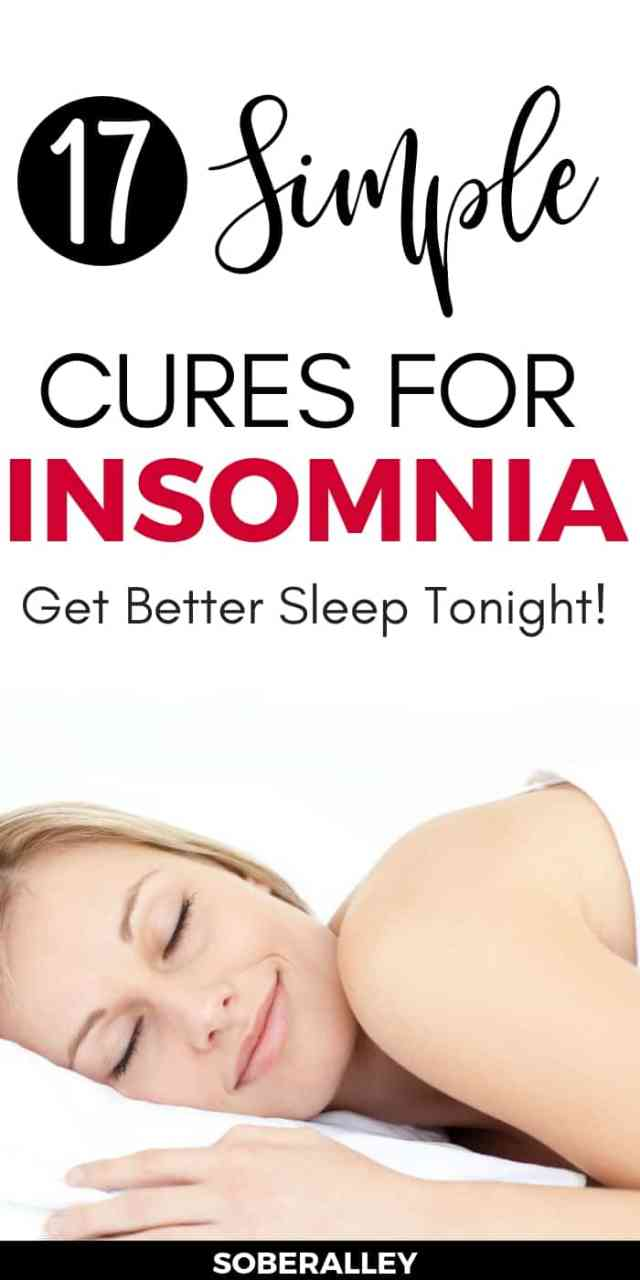 Need better sleep? These 17 cures for insomnia might help you get there! Getting better sleep will help with so many mental health issues like depression, anxiety and even weight loss issues. Check out these insomnia tips and tricks to get more sleep, tonight!