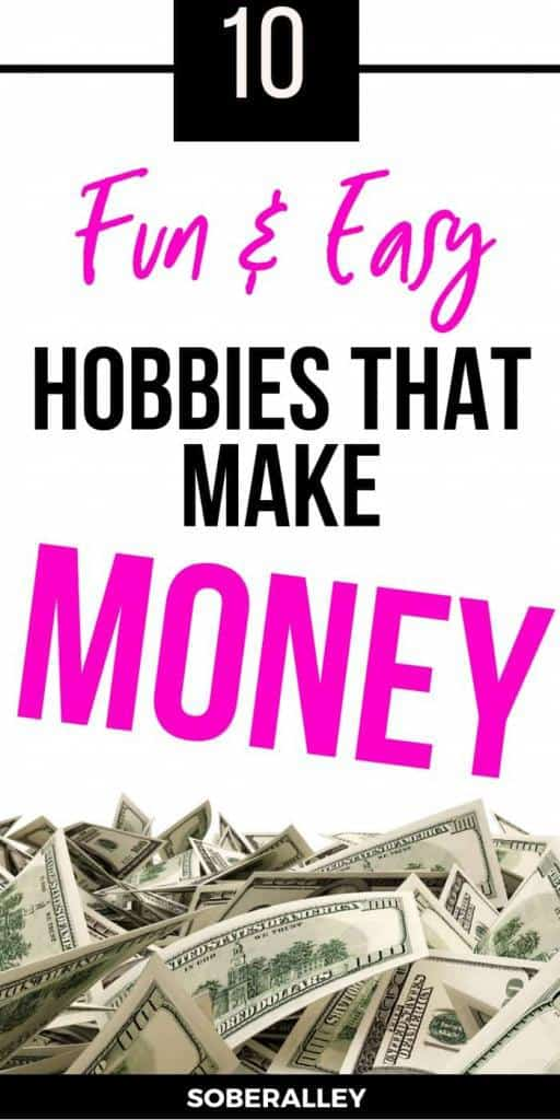 Hobbies that make money are the BEST kind! If you need to make money now or even start making extra money for Christmas, you NEED to check out this list of 10 hobbies that earn money so you can work at home and make money online!