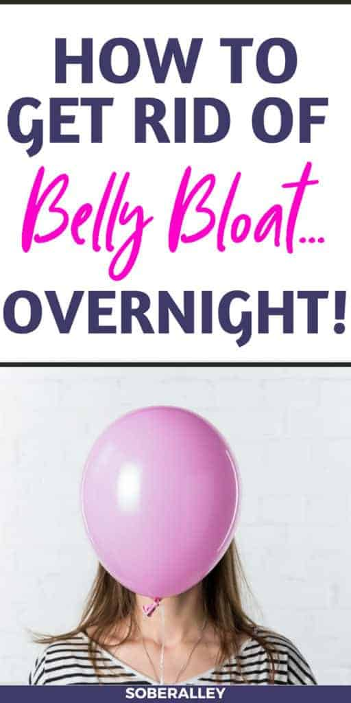 Learn how to get rid of belly bloat overnight! These are the BEST home remedies to relieve belly bloat fast!