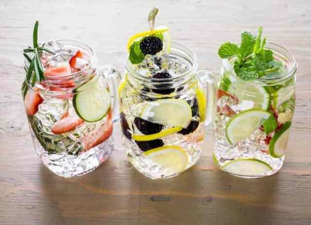 infused detox water drink more water
