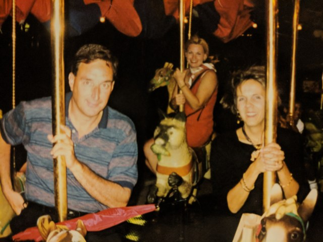 My Wife and Parents on a Merry-Go-Round