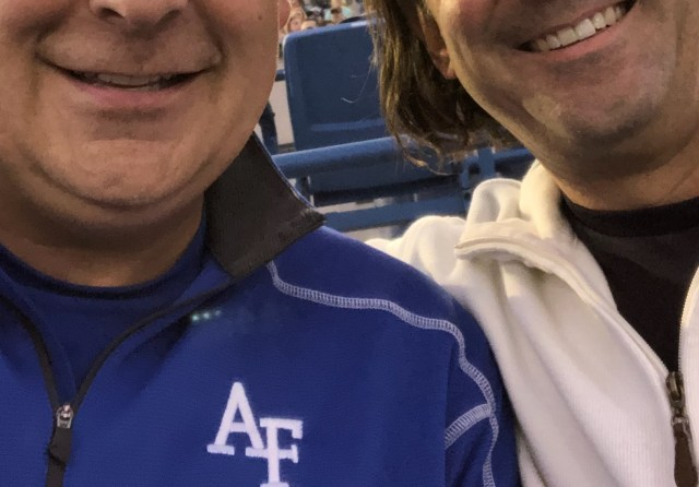 Connection with a Friend at the USAFA Football Game