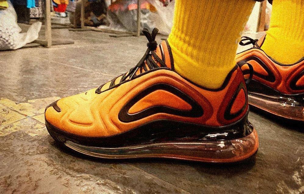 Nike Air Max 270 Total Orange Black как отличить